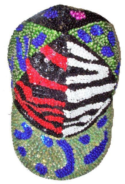 Image 0 of Sequin Baseball Cap Animal Skins