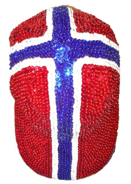 Image 0 of Sequin Baseball Cap Norway Flag