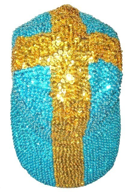 Image 0 of Sequin Baseball Cap Sweden Flag