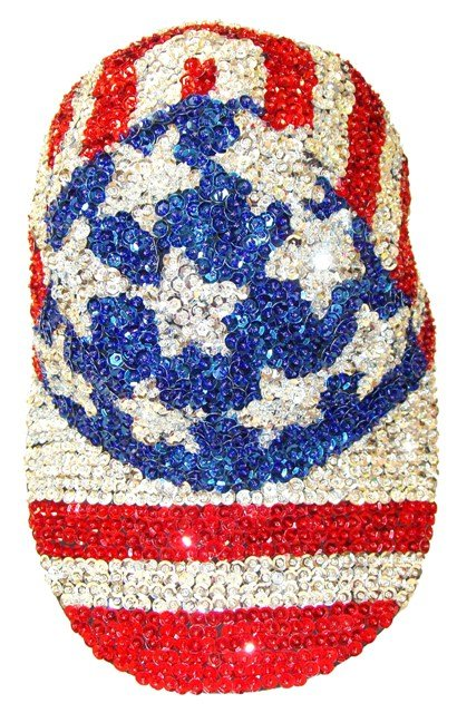 Image 0 of Sequin Baseball Cap USA #4