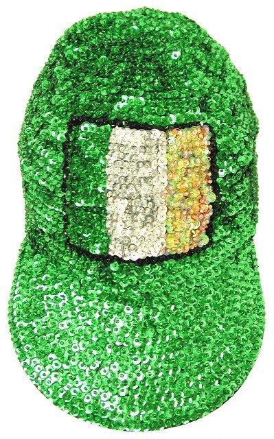 Image 0 of Sequin Baseball Cap Irish Flag