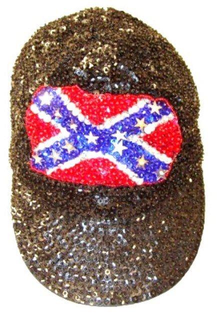 Image 0 of Sequin Baseball Cap Confederate #3