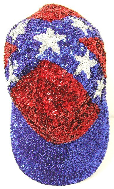 Image 0 of Sequin Baseball Cap Confederate #1