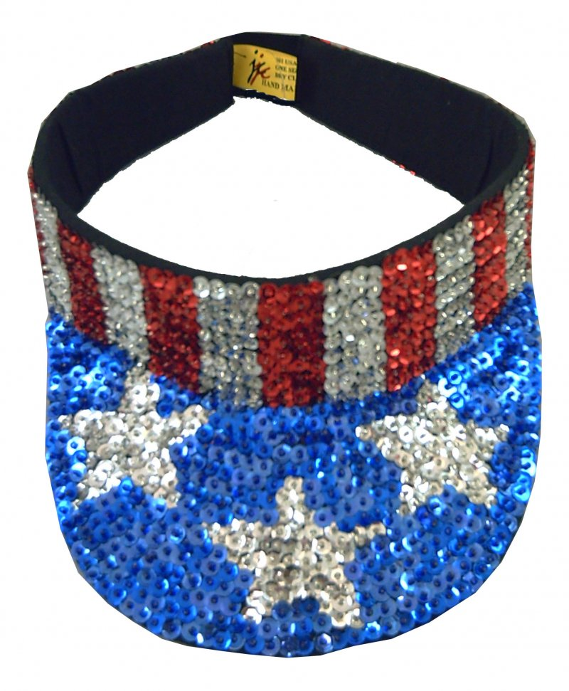 Image 0 of Sequin Visor USA # 2