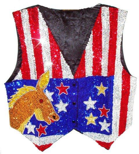 Image 0 of Sequin Vest USA Democratic