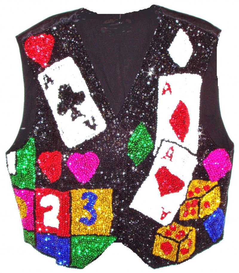 Image 0 of Sequin Vest Cards