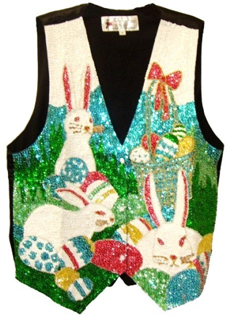 Image 0 of Sequin Vest Easter Bunny
