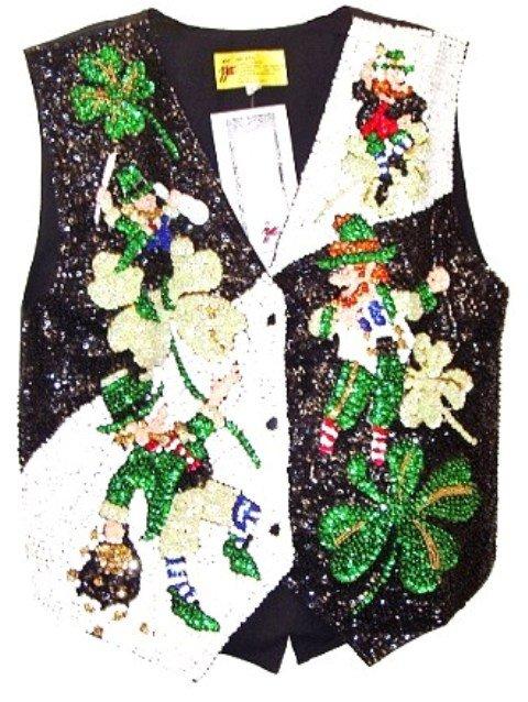 Image 0 of Sequin Vest Leprechauns