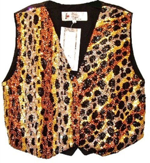 Image 0 of Sequin Vest Leopard Skin