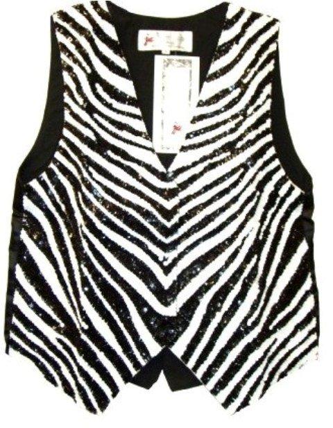 Image 0 of Sequin Vest Zebra Hide
