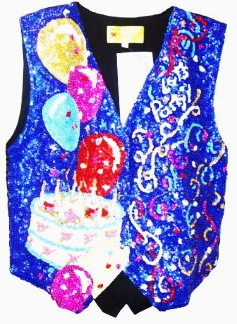 Image 0 of Sequin Vest Let's Party