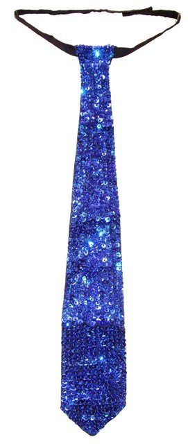 Image 0 of Sequin Neck Tie Royal Blue