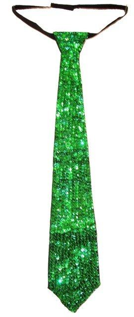 Image 0 of Sequin Neck Tie Emerald Green