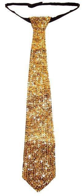 Image 0 of Sequin Neck Tie Gold