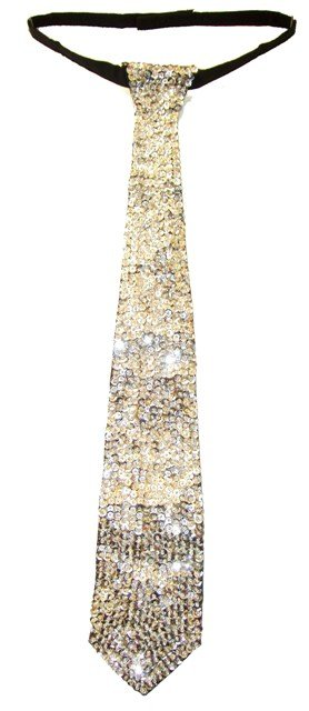 Image 0 of Sequin Neck Tie Silver