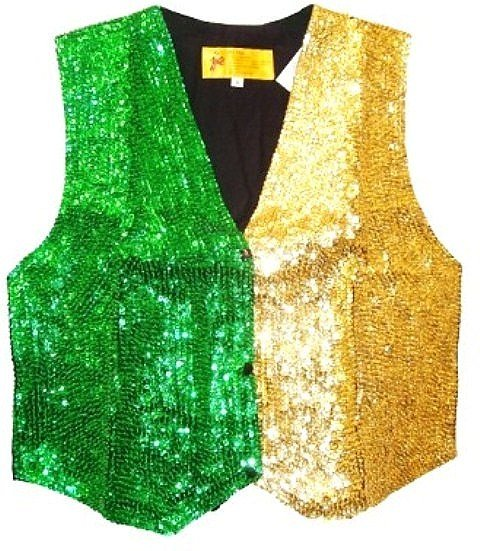 Image 0 of Sequin Vest Emerald Green/Gold Two Tone Color