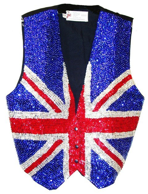 Image 0 of Sequin Vest British Flag