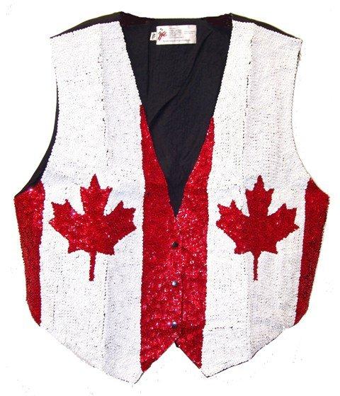 Image 0 of Sequin Vest Canada Flag