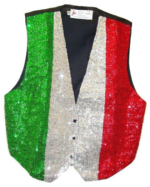 Image 0 of Sequin Vest Italian Flag