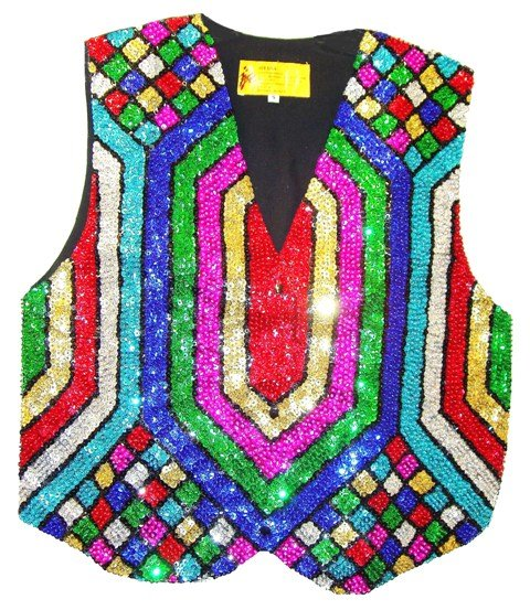 Image 0 of Sequin Vest Mosaic Rainbow For Kids