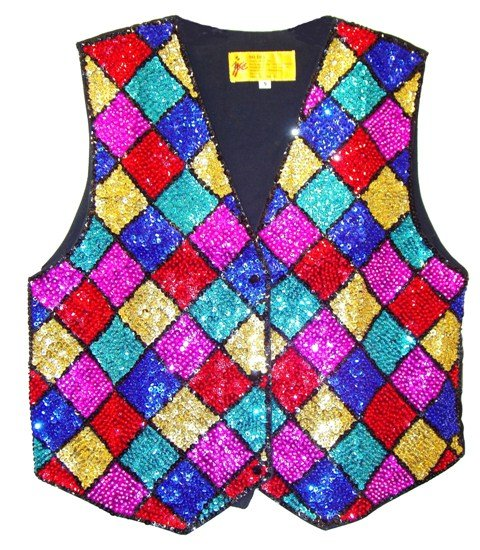 Image 0 of Sequin Vest Mosaic Square For Kids