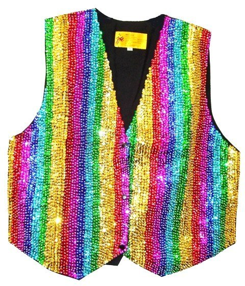 Image 0 of Sequin Vest Rainbow For Kids