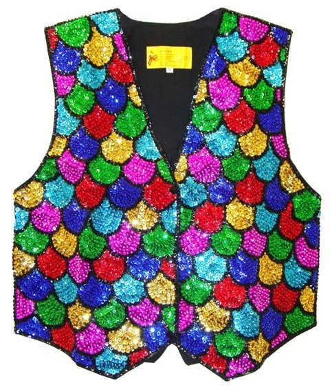 Image 0 of Sequin Vest Mosaic Shell For Kids