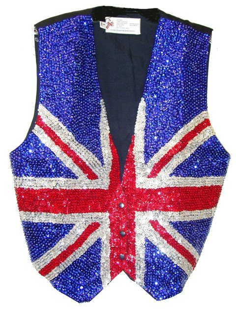 Image 0 of Sequin Vest British Flag For Kids