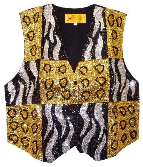 Image 0 of Sequin Vest Tiger/Leopard For Kids