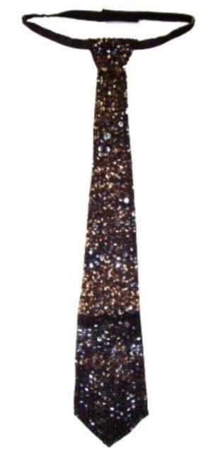 Image 0 of Sequin Neck Tie Black
