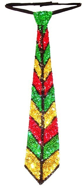 Image 0 of Sequin Neck Tie Jamaica Colors