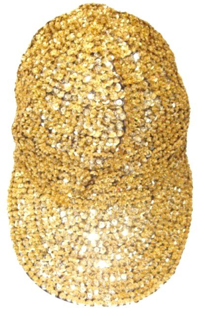 Image 0 of Sequin Baseball Cap Gold For Boys/Girls