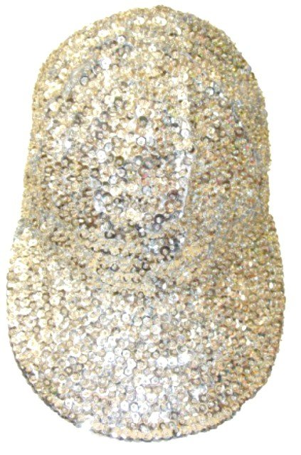 Image 0 of Sequin Baseball Cap Silver For Boys/Girls