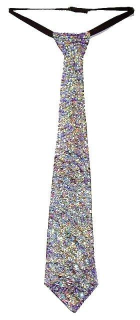 Image 0 of Sequin Neck Tie Opal Purple