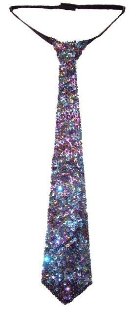 Image 0 of Sequin Neck Tie Peacock