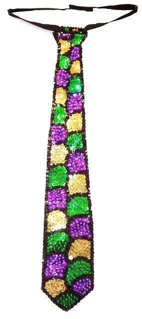 Image 0 of Sequin Neck Tie Mardigras Shell