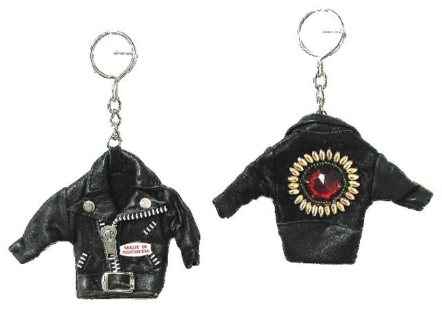 Image 0 of Sequin Keychain Leather Jacket w/Sequins # 2