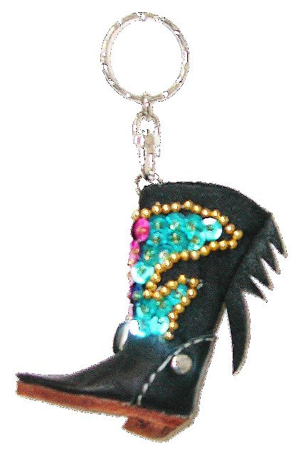 Image 0 of Sequin Keychain Cowboy Boot
