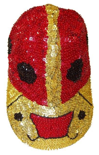 Image 0 of Sequin Baseball Cap Red Bug