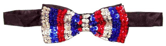 Image 0 of Sequin Bow Tie USA Stripes