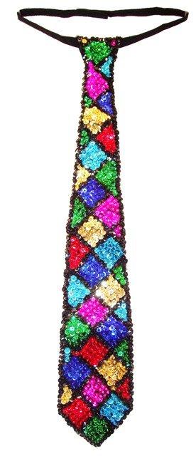 Image 0 of Sequin Neck Tie Mosaic Square