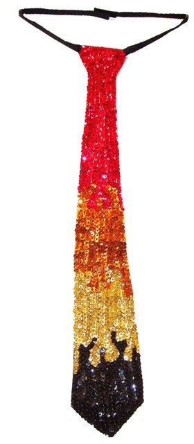 Image 0 of Sequin Neck Tie Flames