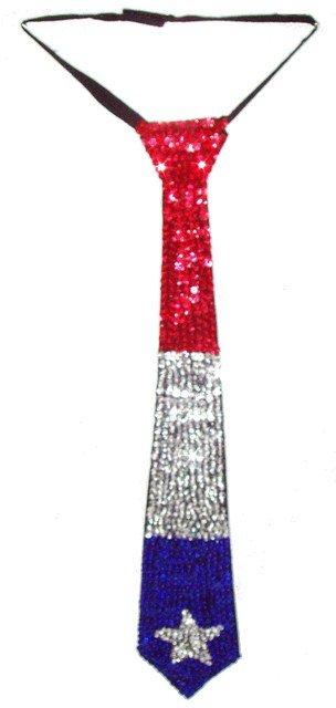 Image 0 of Sequin Neck Tie Lone Star