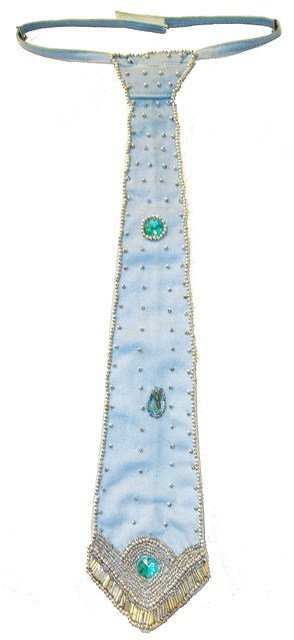 Image 0 of Sequin Denim Neck Tie Lite Blue