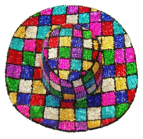Image 0 of Sequin Cowboy Hat Mosaic Square