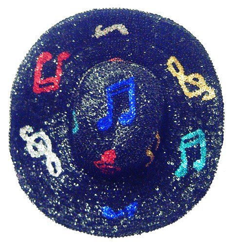 Image 0 of Sequin Cowboy Cowgirl Hat MUSIC NOTES