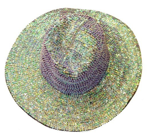 Image 0 of Sequin Cowboy Hat Opal Purple