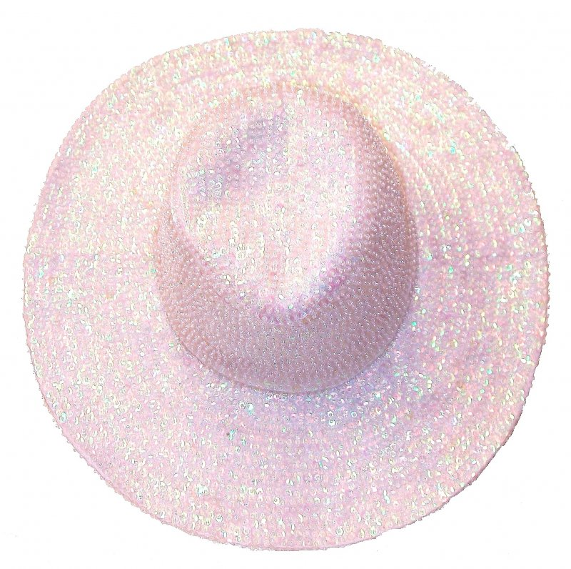 Image 0 of Sequin Cowboy Hat Opal White