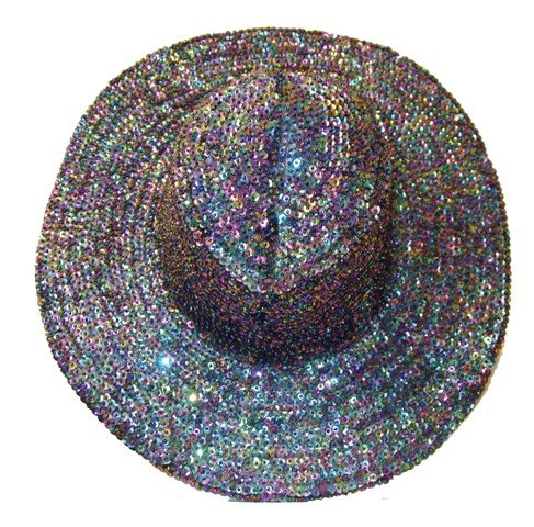 Image 0 of Sequin Cowboy Hat Peacock