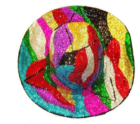 8bdb4d2ab Sequin Cowboy Cowgirl Hat Multicolor RAINBOW